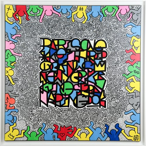 Hommage a Keith Haring Tableau 80x80