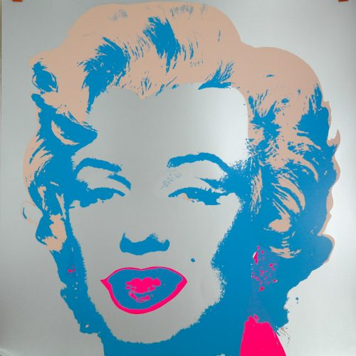 "Marilyn sérigraphie ""Sunday B morning"" Lithographie 100x100"